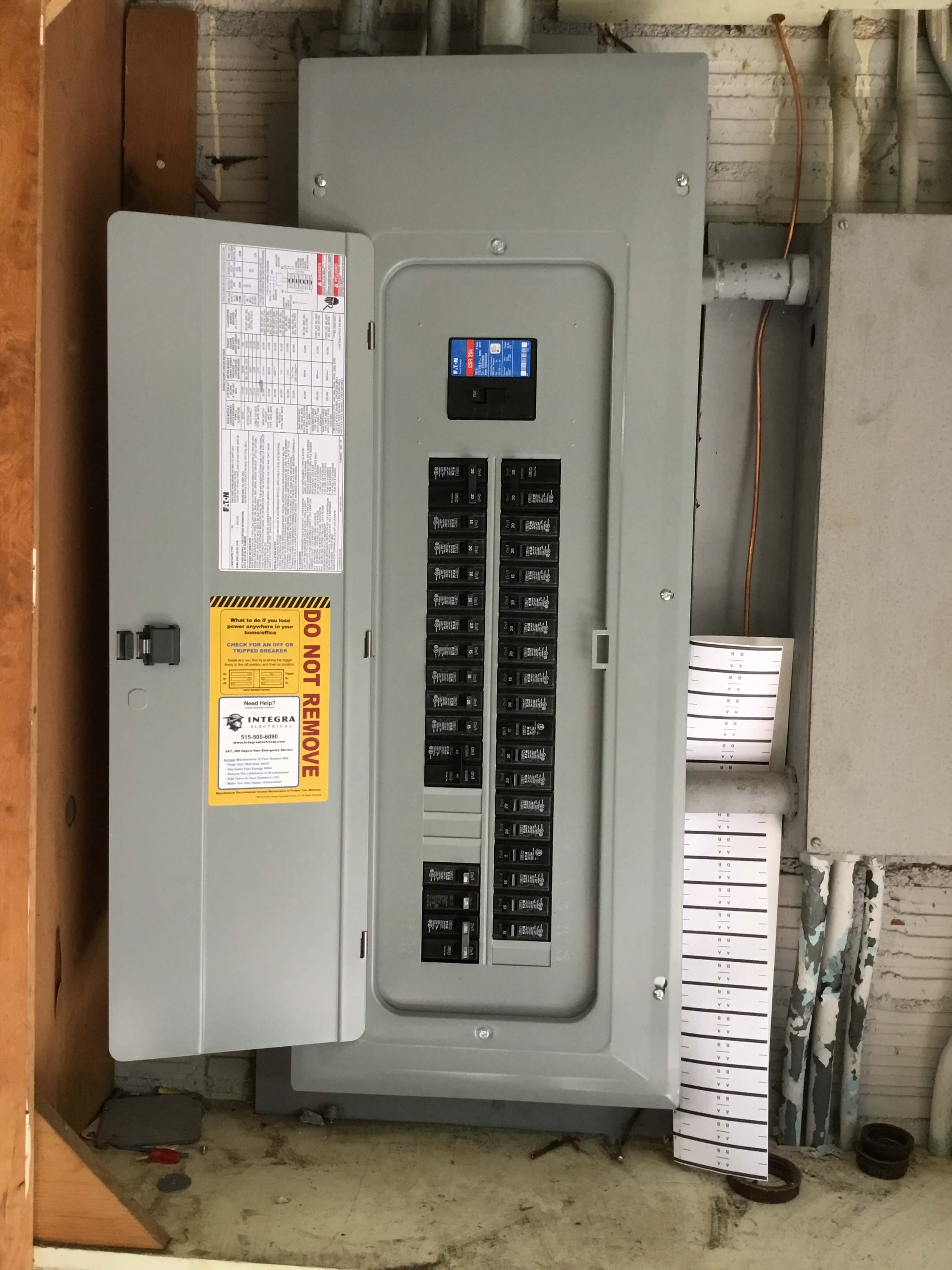 Breaker panel replacement