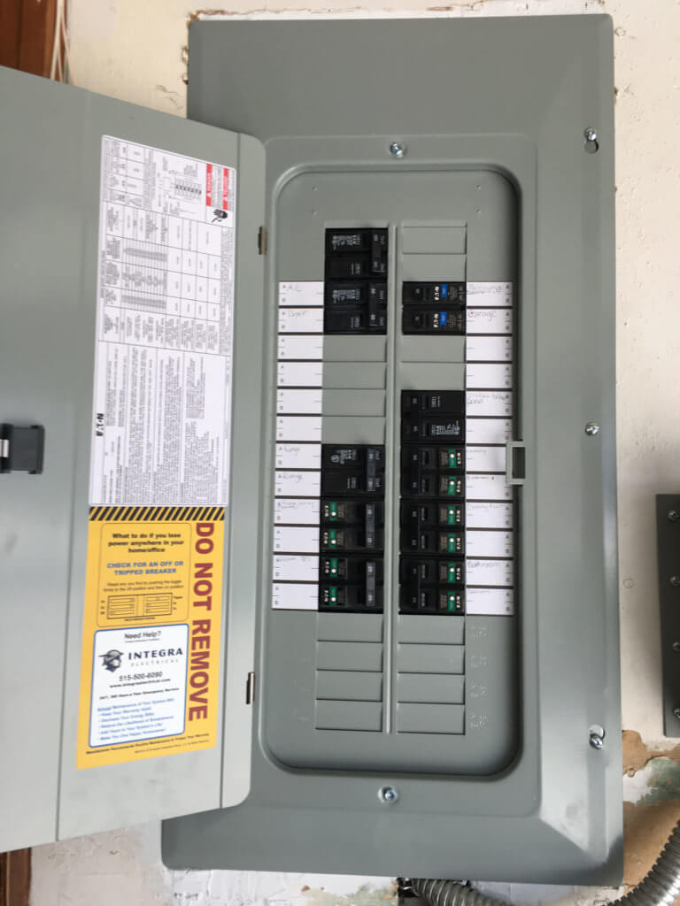 100 Amp Electrical Service Upgrade In Indianola